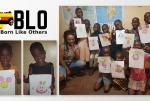 Drawing Lesson Mickey & Mini Mouse, Uganda Africa